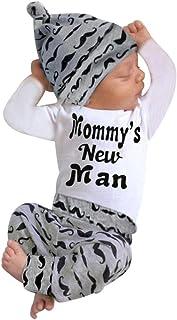 مجموعة ملابس شاريمين بيبي بوي بأكمام طويلة وطباعة وسروال وقبعة زي