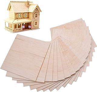 Gobesty Planche de Balsa, 30 Pièces Planche de Bois Balsa pour Le Bricolage Artisanat décor Modèle de Construction, 100 x ...