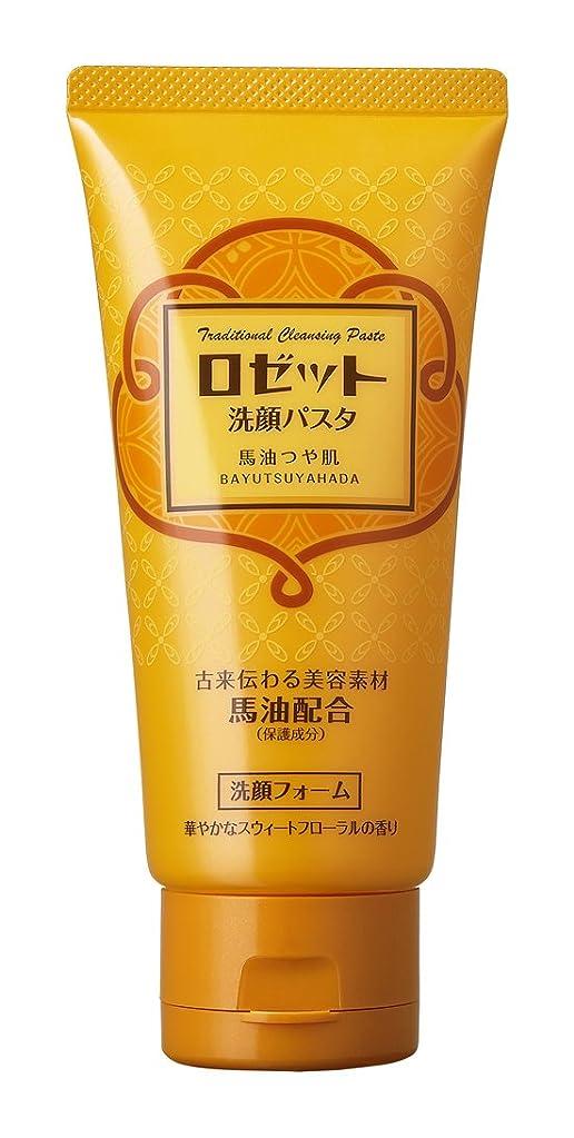 予約空気軽減するロゼット 洗顔パスタ 馬油つや肌 120g