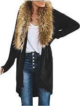 Faux Fur Collar Coat Cardigan for Women Ladies Casual Long Sleeve Knit Jacket Sweaters Kimono Outwear Blouse Daorokanduhp