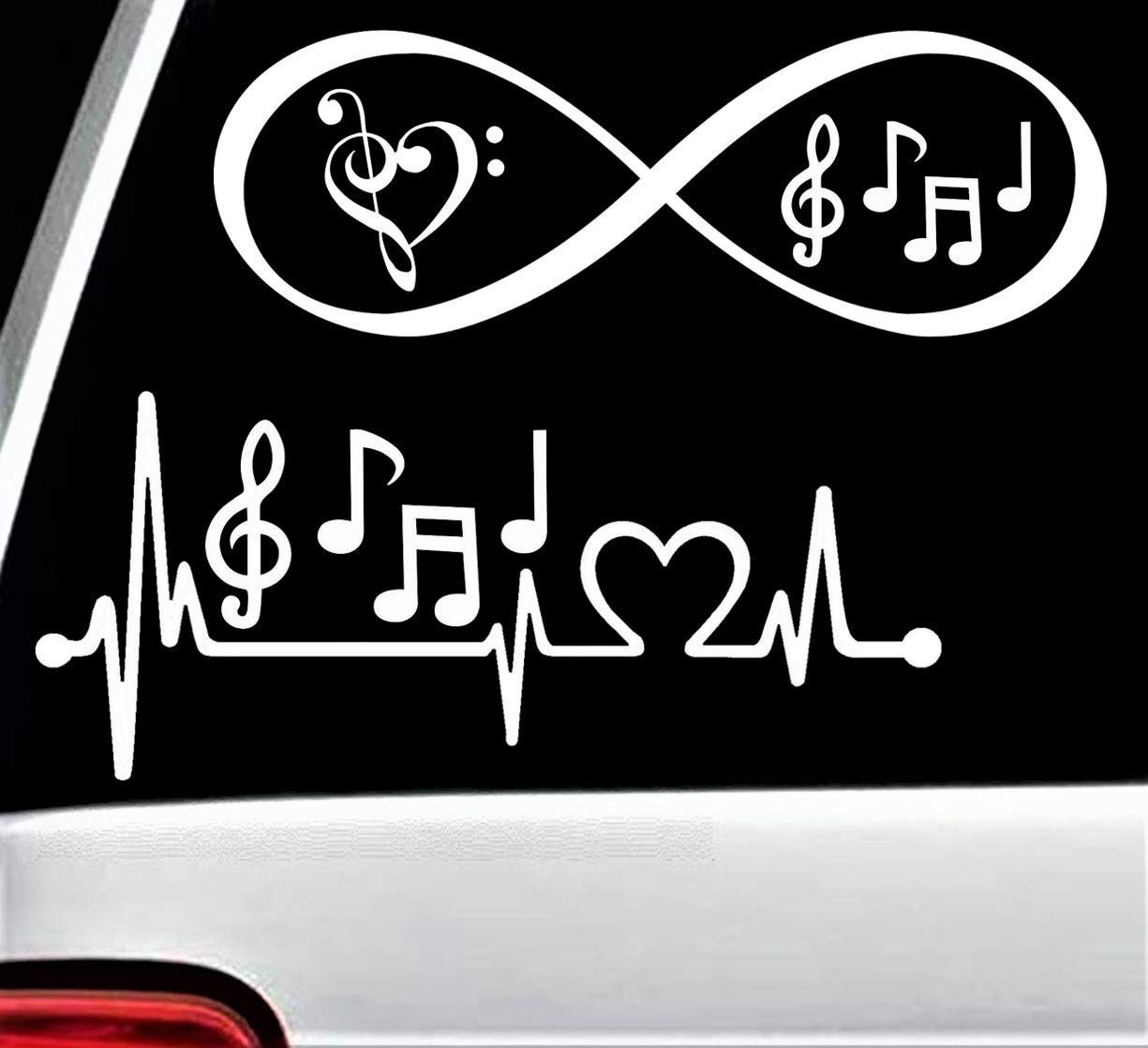 Super-cheap Music Notes Heartbeat Lifeline and Max 75% OFF Ca Sticker Decal for Infinity