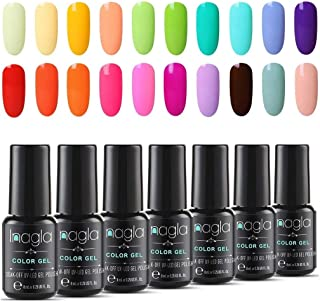 Inagla Esmaltes Semipermanentes de Pastel 20 Colores de Esmaltes de Uñas en Gel UV LED para Manicura