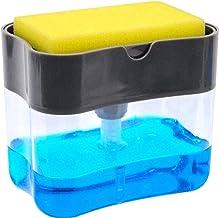 Soap Dispenser | Soap Pump & Sponge Caddy | 2-in-1 Dish Dispenser With Sponge | Dishwashing Soap Holder | Sponge Rack | 13...
