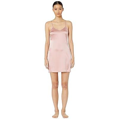 La Perla Silk Reward Short Slip Dress (Pink Powder) Women