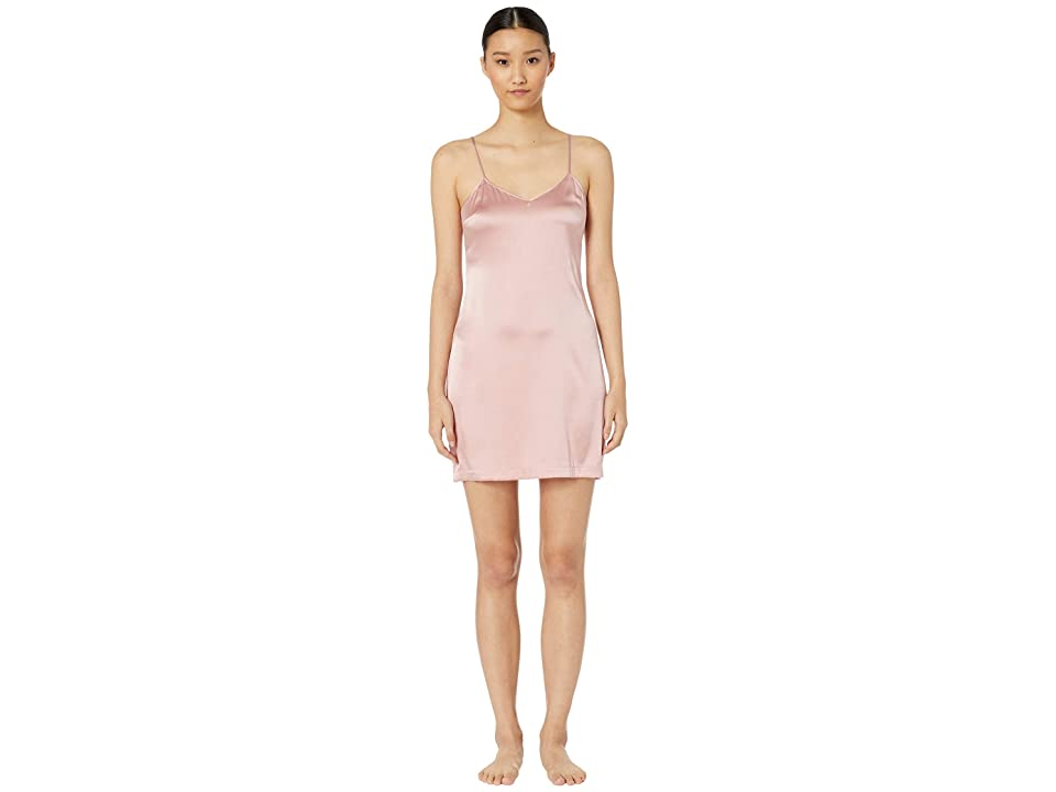 La Perla Silk Reward Short Slip Dress (Pink Powder) Women