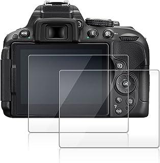 Protector de Pantalla para Nikon D5300 D5500 D5600 AFUNTA 2 Paquete la Cámara del Protector de Vidrio Templado Óptica