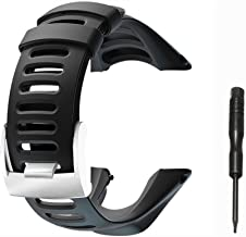 Picowe Watch Band Strap Soft Rubber Watch Band Replacement, Adjustable Watch Replacement Watch Accessories for Suunto Ambit 1/2/2S/2R/3 Sport/3 Run/3 Peak, Screwdriver Included