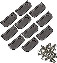 10x zwarte onzichtbare handgrepen, horizontale keukenkast Hardware lade handvat trekken met schroeven, roestvrij staal, 64...