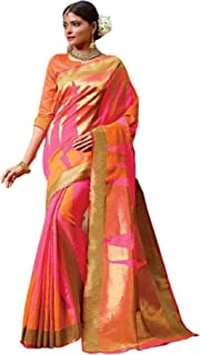 بلوزة ساري من القطن للنساء الهندية الوردية التقليدية الاحتفالية ارتداء Handloom 5792