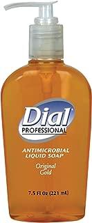 Dial Professional 84014 Liquid Dial Gold Antimicrobial Soap Decorative Pump 7.5 Oz. (12-Pack)