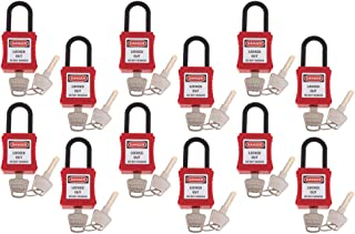 KESOTO 12x Small Padlocks Safety Lock For Handbag Luggage DIY - Red
