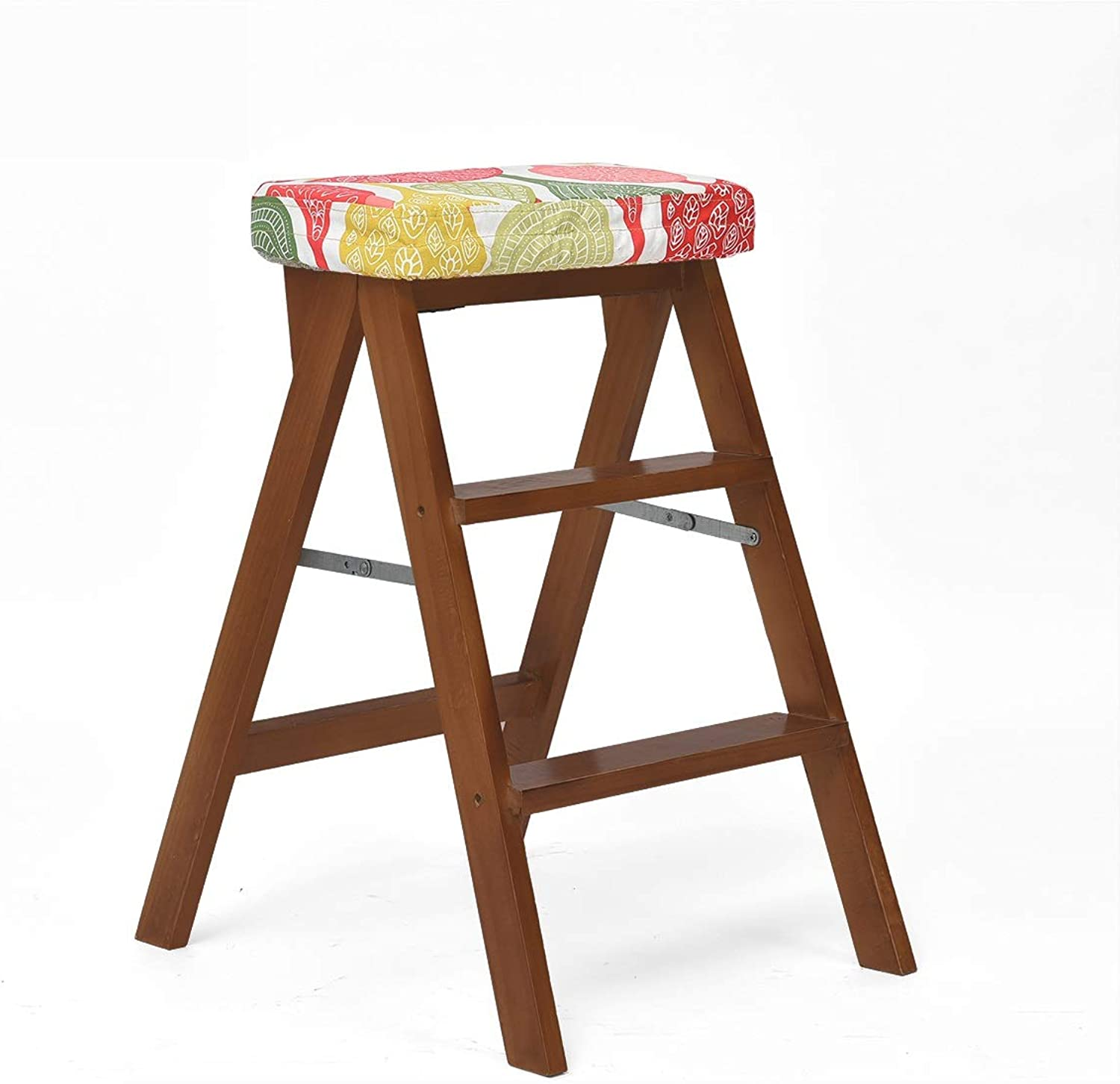 5ad4cfcdb2bcc Folding Stool 2 Tier Solidwood Ladder Stepladders Sturdy and Wide ...
