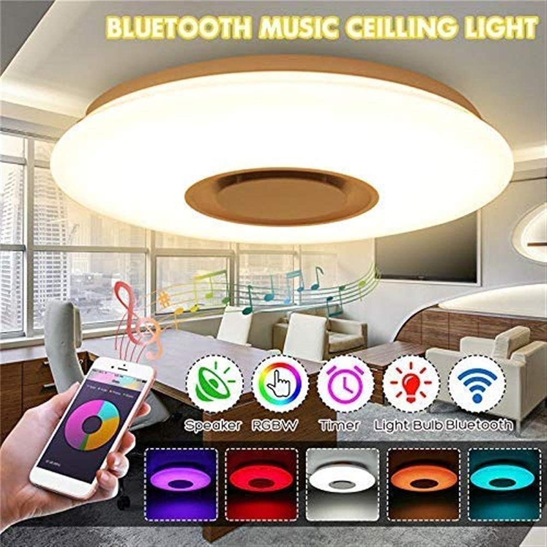 Timstore LED-Musik-Deckenleuchte mit Blautooth-Lautsprecher 36 W, Lautsprecher mit hoher Klangqualitt, Moderne Leuchten mit RGB-Farbwechsel, Family Party Lights Umgebungslicht