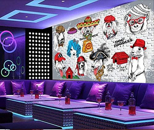lliuuroc--Benutzerdefinierte Tapete Wandbild Tierhandlung Katzenfutter Hundefutter Shop Bar Wanddekoration Malerei -98,4X68,9 Zoll