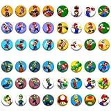 BLOUR 48 Badges de Jeu, Badges de Bricolage de Mode de Dessin animé