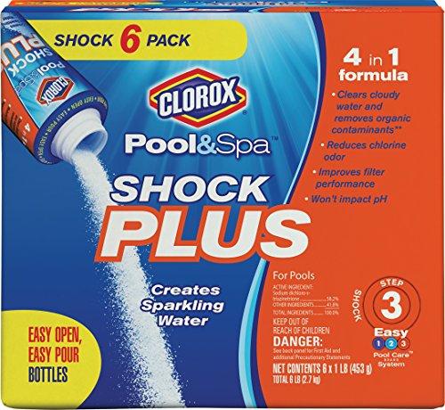 Clorox Pool&Spa Shock Plus 6 Pack (1 lb Bags)