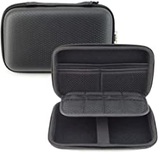 GHKJOK 3DS Carrying Case for NEW 3DS XL 2DS XL & Accessories with Mesh Pouch for game cards, stylus Hard Shell EVA Universal Black