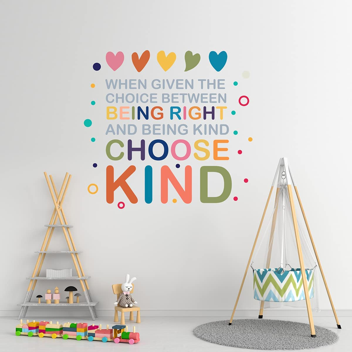 YOKIKI Colorful Motivational Saying Inspirational Quotes Wall Decal Art Vinyl Stickers for Living Room Kids Room Wall Decal Home Decor