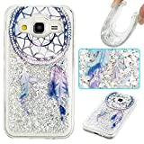 pinlu Coque pour Samsung Galaxy Core Prime (G3608) Silicone TPU Souple Scintillant Bling Etui Ultra-Mince avec Glitter Liquide...