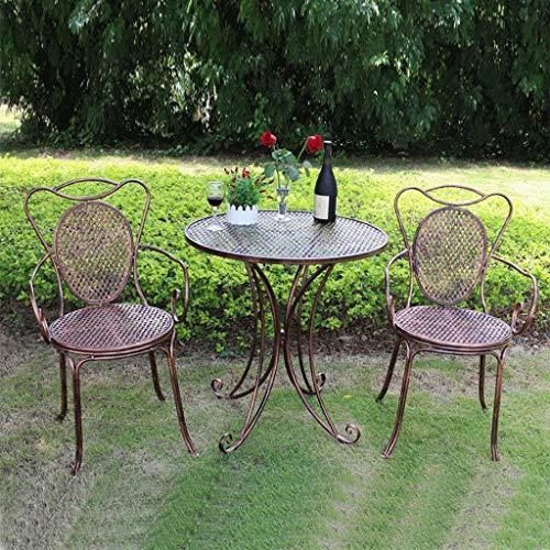 Du hui Mesa y sillas de Comedor de Hierro al Aire Libre,...