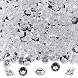 Diamond Table Confetti Party Toy Decorations for Weddings, Bridal Shower, Birthdays, Graduations, Home, and more. 800 COUNT, 4 Carat/8mm Jewels by Super Z Outlet