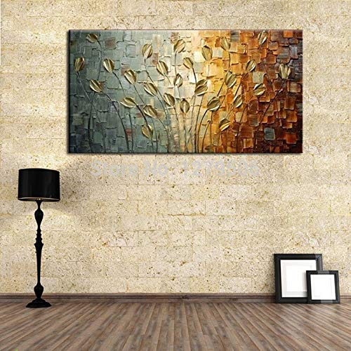 wZUN Abstract art hanging oil painting on canvas picture beautiful painting craft for home decoration 60x120 Frameless