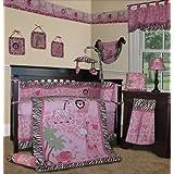 SISI Baby Girl Bedding - Pink Safari 13 PCS Crib Nursery Bedding Set by Sisi