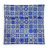 imaskki Bolso Porta BOCADILLOS Reutilizable ECOLÓGICO Color Geometric Blue