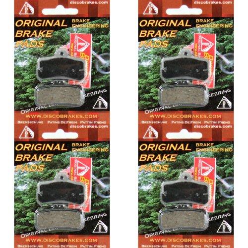 4 paires Plaquettes de Frein belage pour Shimano XTR XT Disque Shimano SLX LX Saint Smartphone Zee Deore, de selle de frein BR m985 M810 M545 M555 + + + + + + + +. 2/paquet, Semi métallisé, Kevlar, Céramique Pro, dure fritté KE, Saint BR-M810