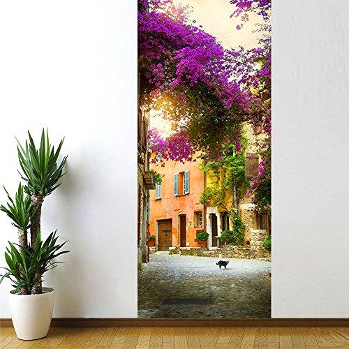 3D Deur muursticker Deur voor Woonkamer 77X200Cm Tuinhuis Kinderen Baby Kinderen Verwijderbare Vinyl Zelfklevende Muursticker Art Home Decoratie 88x200cm