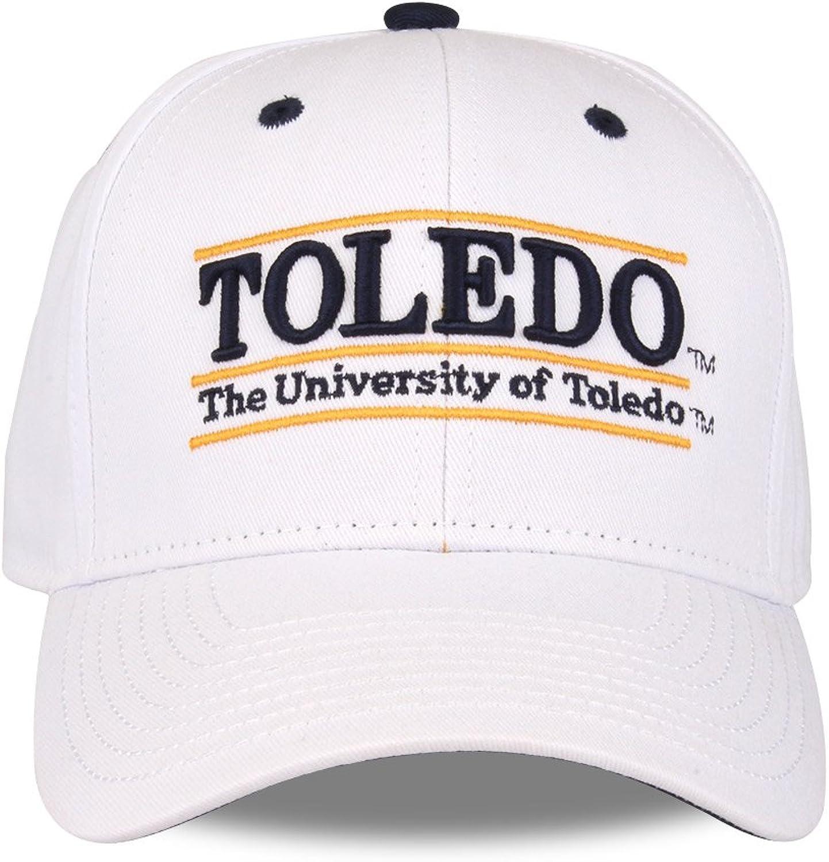 NCAA Toledo Rockets The Game Bar Design Adjustable Hat, Adjustable Size, White