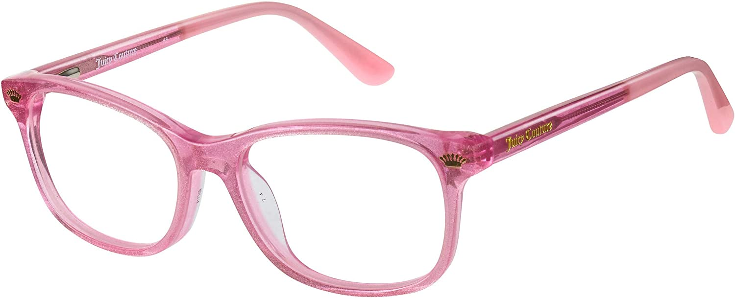 Eyeglasses Max 62% OFF Juicy Couture 933 0W66 Regular store 00 Demo Lens Glitter Pink