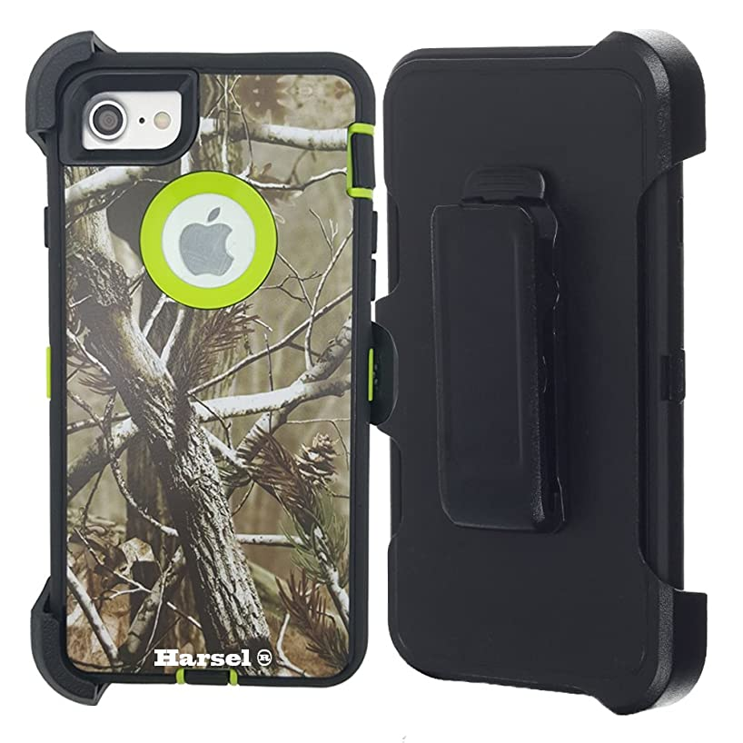 iPhone 7 Camo Case,iPhone 8 Case for Men, Harsel Belt Clip & Built-in Screen Protector Heavy Duty Tree Design Defender Shockproof Shock-Absorbent Hybrid Tough Armor Case for iPhone 7/ 8 [4.7 inch]