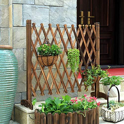 BALLSHOP Portable Expanding Freestanding Wooden Trellis Fence Garden Screen
