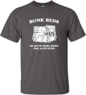 BUNK BEDS FUNNY STEP BROTHERS MOVIE QUOTE MENS T-SHIRT Charcoal 2XL