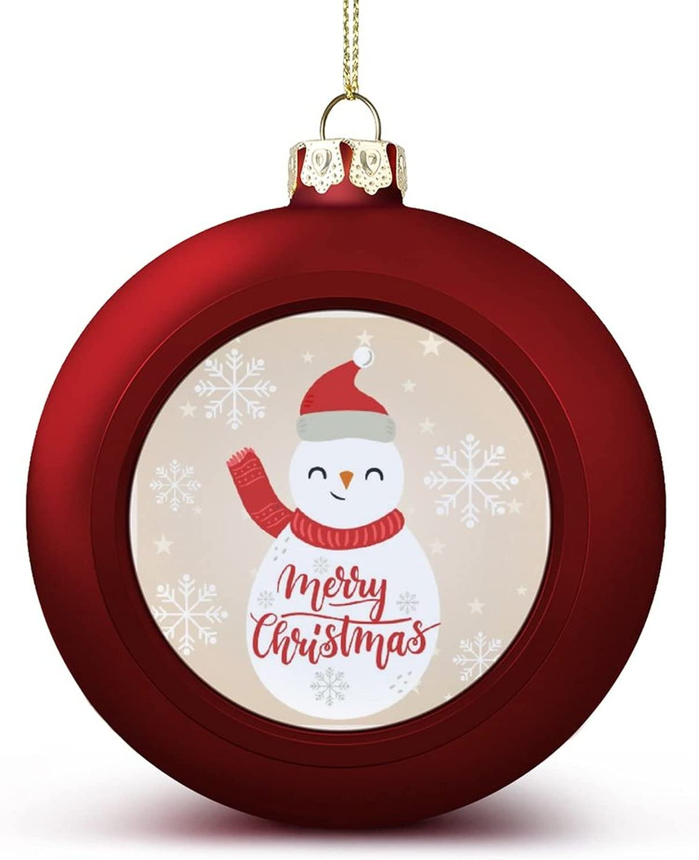 Merry Christmas Snowman Ball Outlet SALE Ornaments Luxury Hangi Halloween