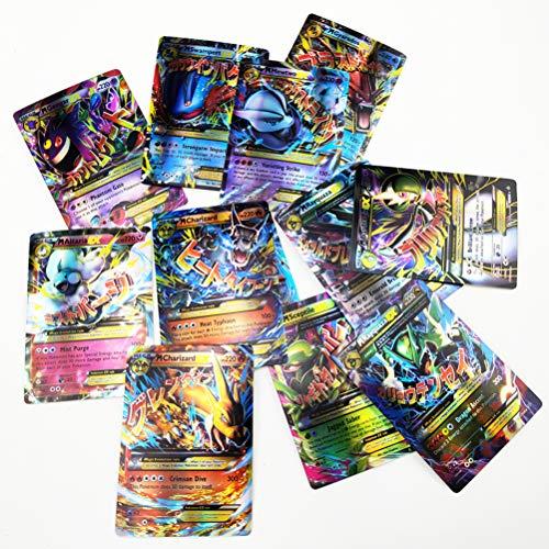 Set di carte Pokemon da 150 pezzi, tra cui 80 pezzi New Tag Team + 40 Mega Ex + 20 pezzi Ultra Beast Gx + 1 allenatore e 9 carte energetiche rare.