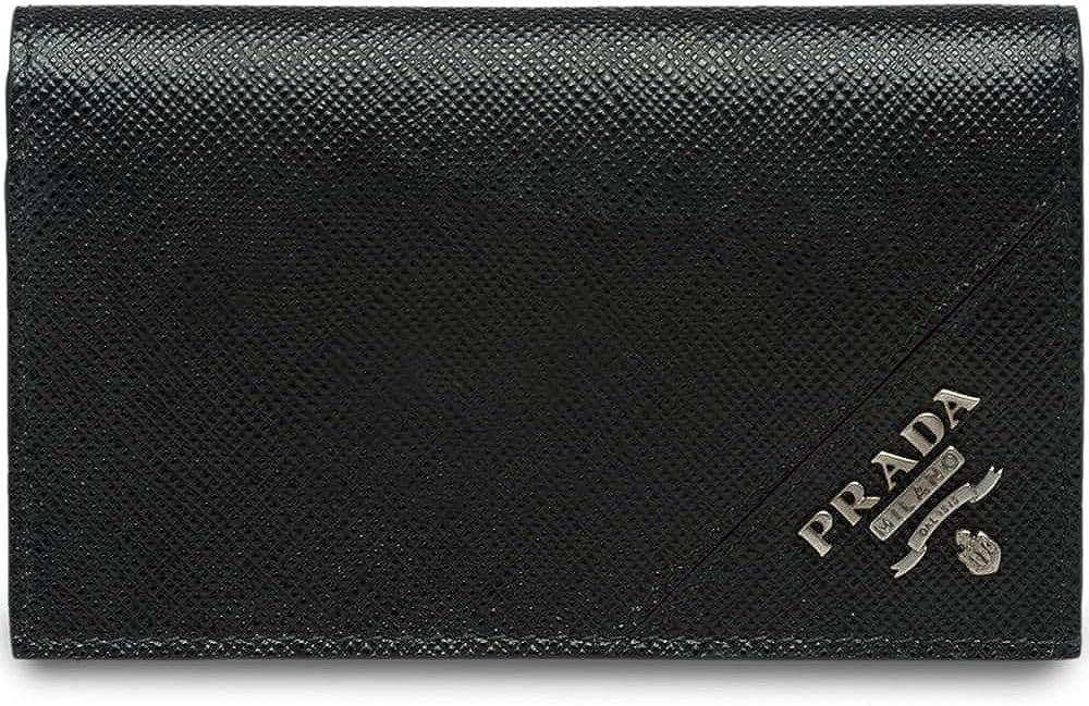 Prada luxury fashion portafoglio da uomo, in vera  pelle 100% 2MC122QMEF0002