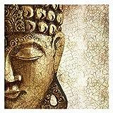 Bilderwelten Fotomural - Vintage Buddha - Mural cuadrado papel pintado fotomurales murales pared papel para pared foto 3D mural pared barato decorativo, Dimensión Alto x Ancho: 240cm x 240cm