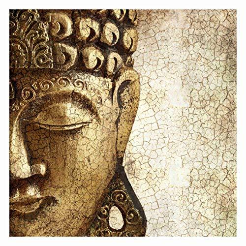 Bilderwelten Carta da parati - Vintage Buddha - Fotomurale carta da parati quadrata carta da parati tessuto non tessuto tappezzeria carta da parati moderna 3D parati di design, Dimensione AxL: 240cm x 240cm