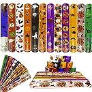 Jofan 48 PCS Halloween Slap Bracelets Halloween Toys for Kids Girls Boys Halloween Party Favors Halloween Treat Bags Gifts