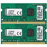 Kingston ValueRAM 8GB Kit (2x4GB) 1333MHz DDR3 Non - ECC CL9 SODIMM SR x8 Notebook Memory KVR13S9S8K2/8