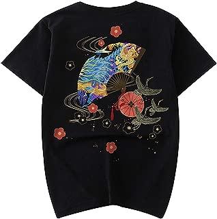 Men's Fashion Embroidered T-Shirts Unisex Cotton Shirt