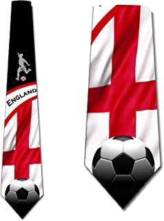 Soccer Ties Mens England Tie Sports Necktie by Three Rooker