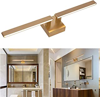 22W Bathroom Vanity Lights Satin Brass,2700K 1500LM Warm White Linear LED Vanity Mirror Light Makeup Light Picture Lighting Wall Sconce for Bathroom Bedroom Vanity Table by MELUCEE