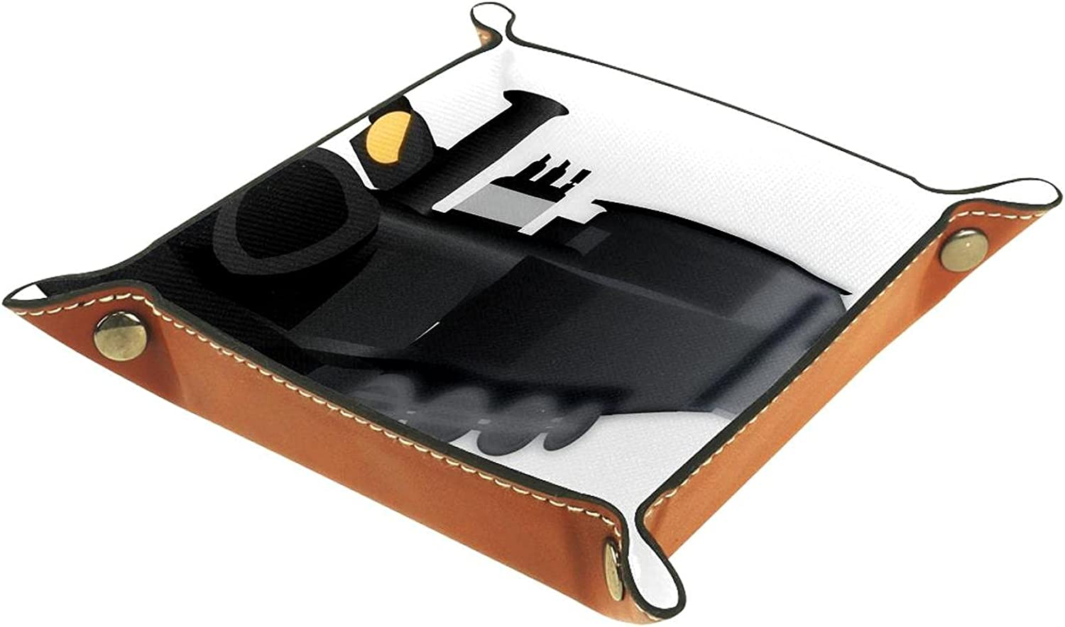 LANIY Max 61% OFF Folding PU Leather Dice Challenge the lowest price of Japan ☆ Rolling Game Box Tray Holder