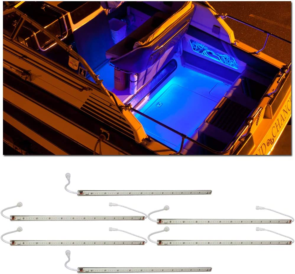 LEDGlow 6pc Blue LED Our shop OFFers the best service Boat Marine Long Beach Mall Under Gunnel Deck Accen Cabin