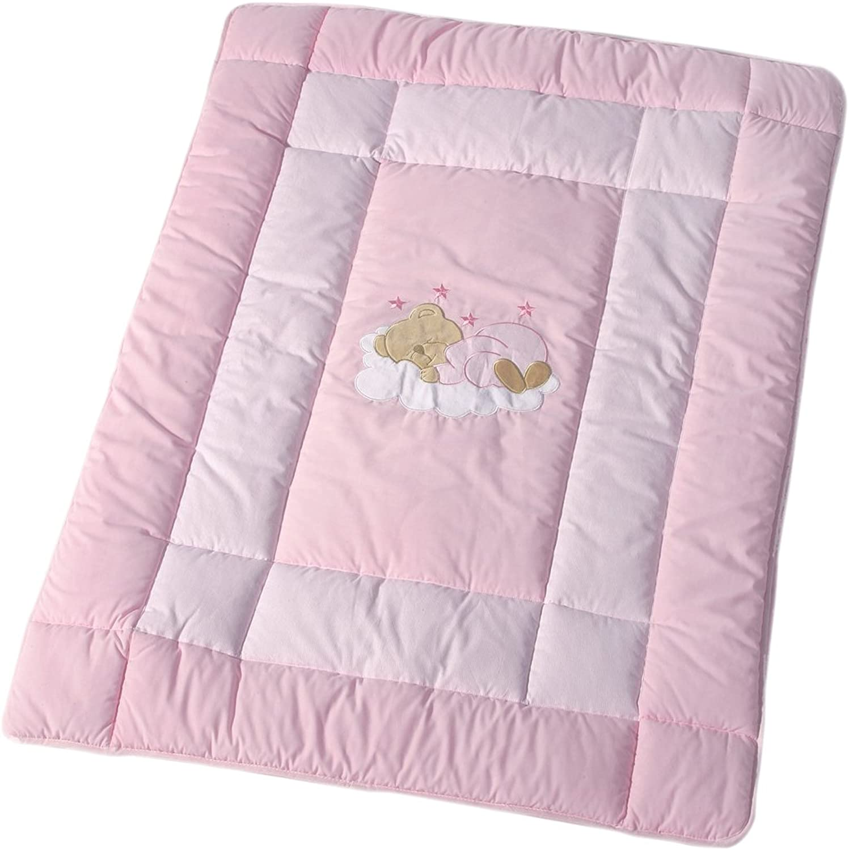Easy Baby Krabbeldecke 150 150 cm  Sleeping Bear pink