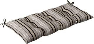 Pillow Perfect Indoor/Outdoor Getaway Stripe Black Swing/Bench Cushion