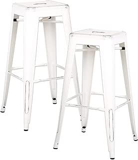 AC Pacific Modern Backless Light Weight Industrial Metal Barstool 4 Leg Design, 30
